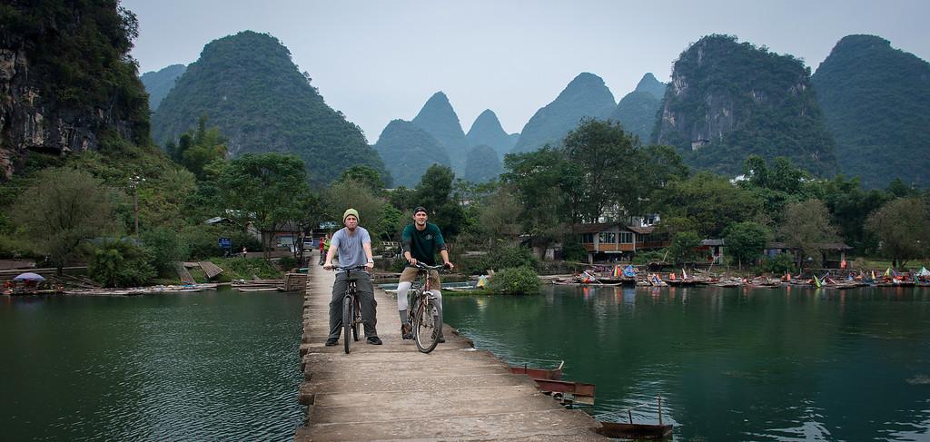 Riding bikes in Yangshuo China
