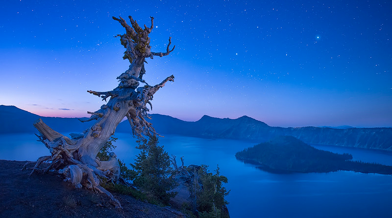 Twilight at Crater Lake
