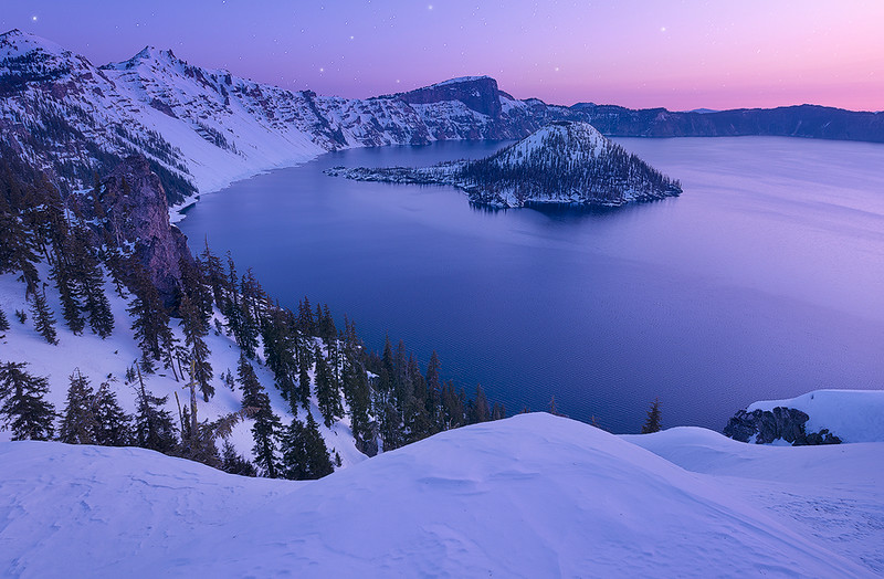 Twilight on the Crater - Crater Lake National Park, Oregon