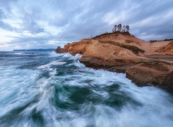Crashing Waves on the Coast - Central Oregon