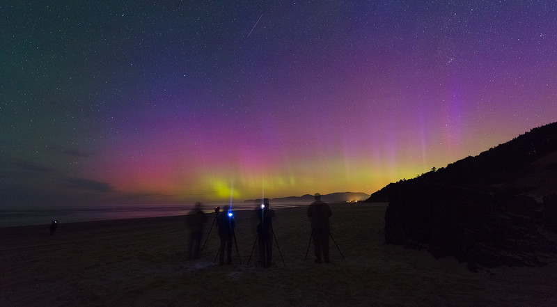 One of the Groups Got Lucky and We Caught the Northern Lights in Southern Oregon