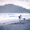Playing with sticks & random dogs on the beaches of Hana